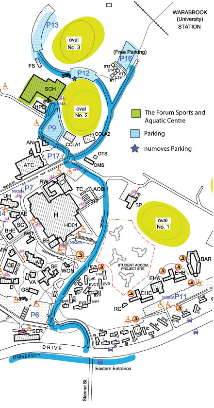 Newcaslte uni campus map